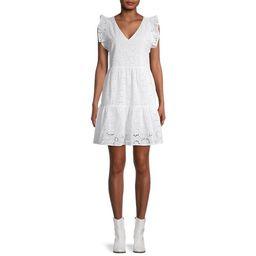 Time and Tru Women's Flutter Sleeve Dress | Walmart (US)