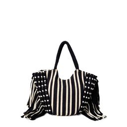 Time and Tru Fringe Woven Tote | Walmart (US)