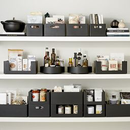 THE HOME EDIT Wooden All-Purpose Bin Onyx | The Container Store