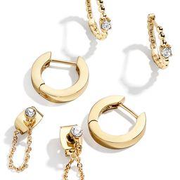 Set of 3 Hoop & Chain Earrings | Nordstrom