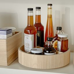 The Home Edit by iDesign Sand Divided Lazy Susan | The Container Store