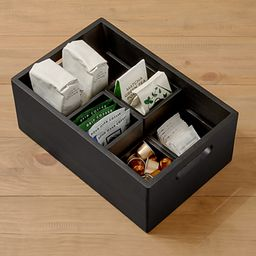 THE HOME EDIT Wooden Large All-Purpose Onyx | The Container Store