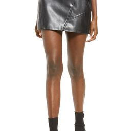 Snap Faux Leather Skirt | Nordstrom | Nordstrom