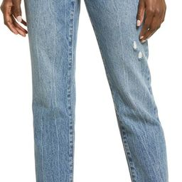 The Madison Ripped Crop Straight Leg Jeans | Nordstrom | Nordstrom