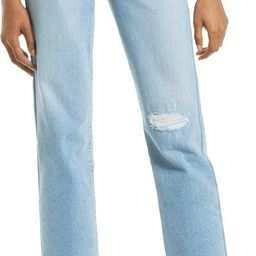 Levi's® Ribcage Ripped High Waist Ankle Straight Leg Jeans | Nordstrom | Nordstrom