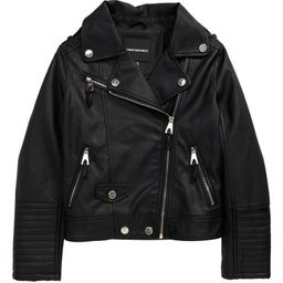Kids' Quilted Faux Leather Moto Jacket   Nordstrom   Nordstrom