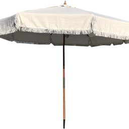 Formosa Covers 9ft 8 Ribs Replacement Umbrella CANOPY ONLY w/Fringe Valance for Outdoor Decor, En... | Amazon (US)