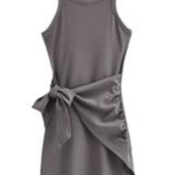 'Tanya' Front Tied Wrap Tank Dress (3 Colors)   Goodnight Macaroon