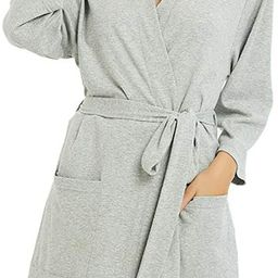 U2SKIIN Womens Cotton Robes, Lightweight Robes for Women with 3/4 Sleeves Knit Bathrobe Soft Slee...   Amazon (US)