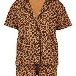 Leopard Jersey PJ Short Set   Boohoo.com (US & CA)