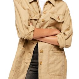 Women's Free People Seamed & Structured Patchwork Cotton Jacket, Size X-Small - Beige   Nordstrom