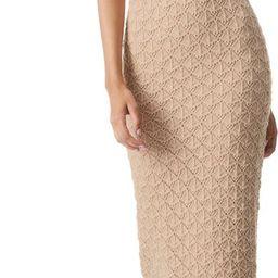 Lulu Cotton & Wool Blend Crochet Body-Con Dress | Nordstrom