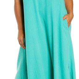 Textured Cotton Sleeveless Maxi Dress | Nordstrom