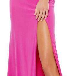 One Shoulder Jersey Sheath Gown | Nordstrom