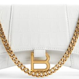 Extra Small Hourglass Croc Embossed Leather Crossbody Bag | Nordstrom | Nordstrom