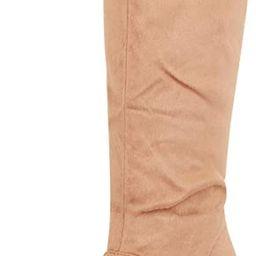 Cambridge Select Women's Chunky Stacked Block High Heel Mid-Calf Boot   Amazon (US)