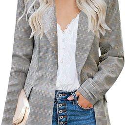 luvamia Women's Casual Long Sleeve Lapel Button Slim Work Office Blazer Jacket | Amazon (US)