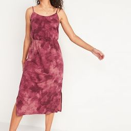 Waist-Defined Tie-Dye Slub-Knit Cami Midi Dress for Women | Old Navy (US)