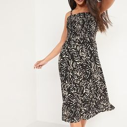 Smocked Fit & Flare Cami Midi Dress for Women   Old Navy (US)
