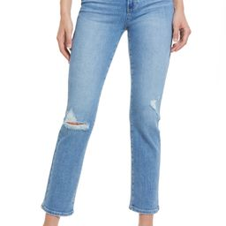 Cindy Ripped Straight Leg Jeans | Nordstrom