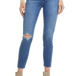 Verdugo Ripped Raw Hem Crop Skinny Jeans   Nordstrom   Nordstrom