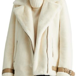 Asymmetric Faux Fur Moto Coat | Nordstrom