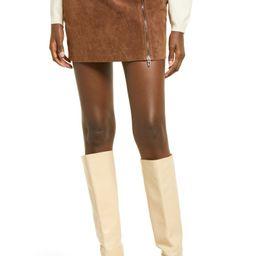 Zip Suede Miniskirt | Nordstrom