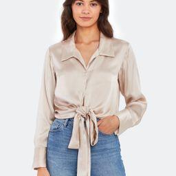 Bianca Tie Silk Top   Verishop