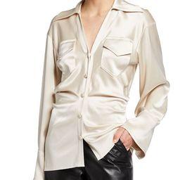 Dale Satin Button-Down Shirt   Neiman Marcus