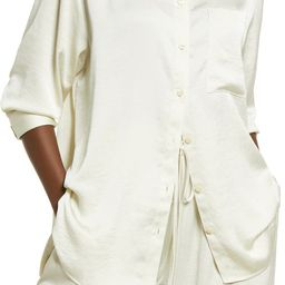 Satin Button-Up Shirt | Nordstrom | Nordstrom