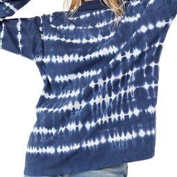 Be Free Tie Dye Oversize Long Sleeve T-Shirt | Nordstrom