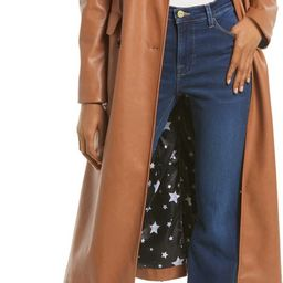Double Breasted Faux Leather Trench Coat | Nordstrom | Nordstrom
