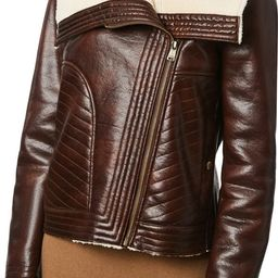 Bernado Faux Leather Moto Jacket with Faux Shearling Lining | Nordstrom | Nordstrom