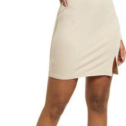 Fitted Slit Long Sleeve Rib Dress | Nordstrom | Nordstrom