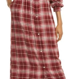 Plaid Long Sleeve Shirtdress | Nordstrom | Nordstrom