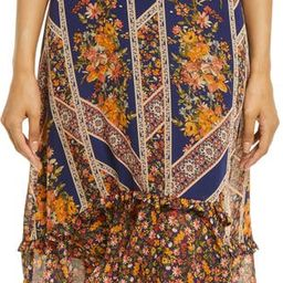 Floral Scarf Print Ruffle Detail A-Line Dress | Nordstrom | Nordstrom