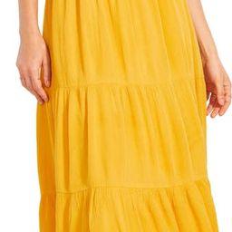 BB Dakota x Steve Madden Hidalgo Tie Front Crinkled Rayon Midi Dress | Nordstrom | Nordstrom