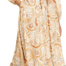 Paisley Tie Waist A-Line Long Sleeve Dress | Nordstrom | Nordstrom
