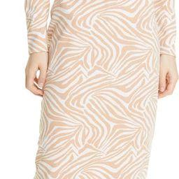 Zebra Print Long Sleeve Midi Dress | Nordstrom | Nordstrom