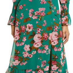 Floral Ruffle Long Sleeve Dress   Nordstrom   Nordstrom