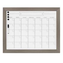 "23"" x 29"" Beatrice Framed Magnetic Dry Erase Monthly Calendar Gray - DesignOvation | Target"