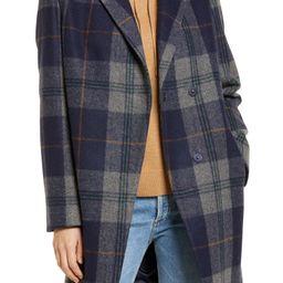 Plaid Notch Collar Coat   Nordstrom   Nordstrom