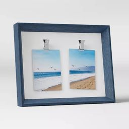 """3"""" x 4"""" Wedge Double Clip Picture Frame Navy - Room Essentials™ 