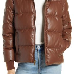 Faux Leather Puffer Jacket   Nordstrom   Nordstrom