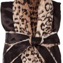 Faux Fur & Satin Robe   Nordstrom