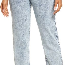 Acid Wash Straight Leg Mom Jeans | Nordstrom | Nordstrom