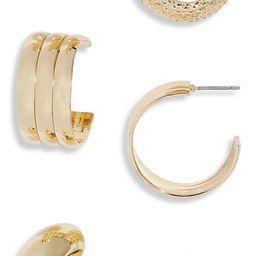 Set of 3 Hoop Earrings | Nordstrom