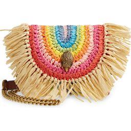 Mini Kensington Rainbow Raffia Shoulder Bag | Nordstrom | Nordstrom