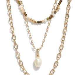Scarlet Bead & Chain Layered Necklaces | Nordstrom | Nordstrom