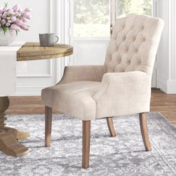 Lila Tufted Linen Upholstered Arm Chair | Wayfair North America
